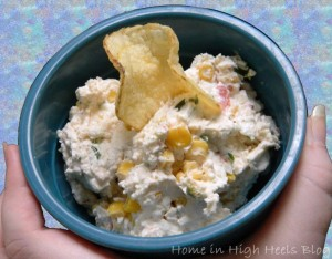 Kicked Up Serrano Spicy Polside Dip Recipe from Home in High Heels