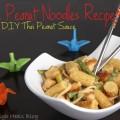 Simple Peanut Noodles Recipe with DIY Thai Peanut sauce fresh Healthy Lunch DIY How To Thai