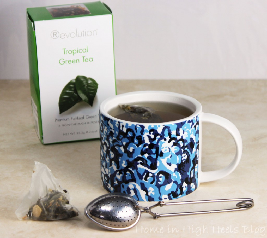 Tea & Coffee Tuesday Revolition Tropical Green Tea Review Kate Spade Mug 01