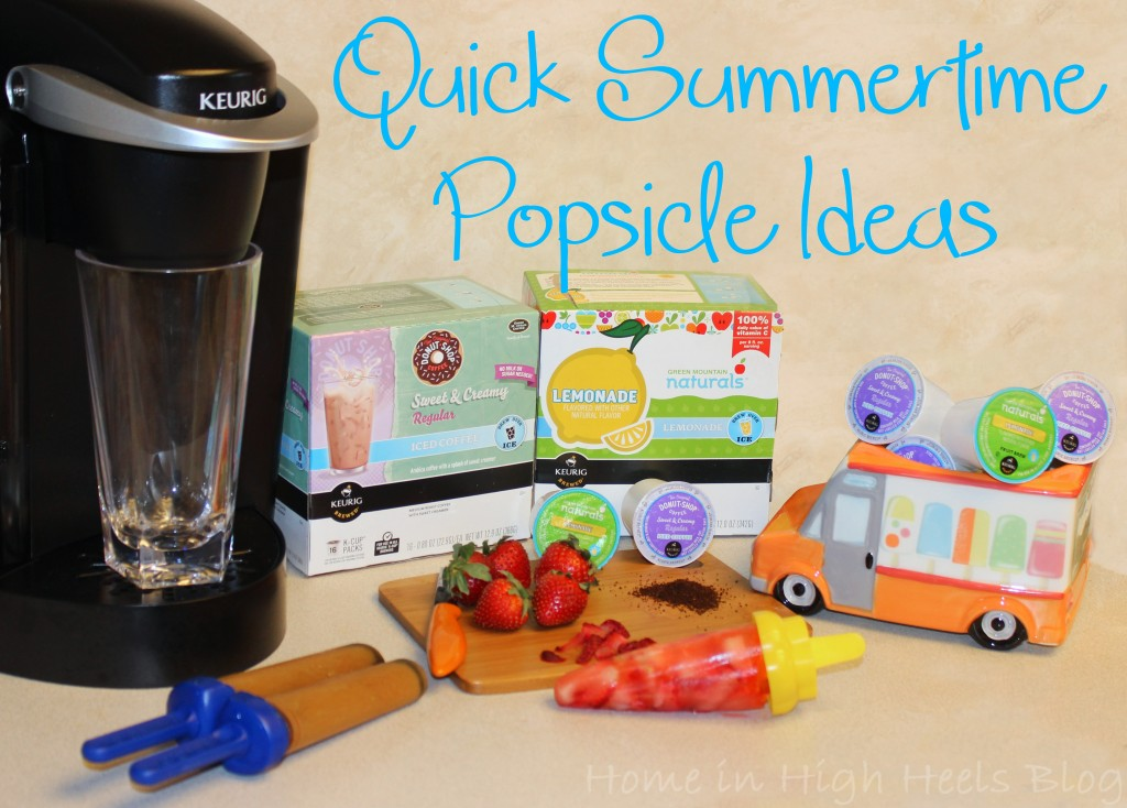 Quick Summertime Popsicle Ideas with Keurig #BrewOverIce! Strawberry Lemonade & Creamy Espresso Recipes!