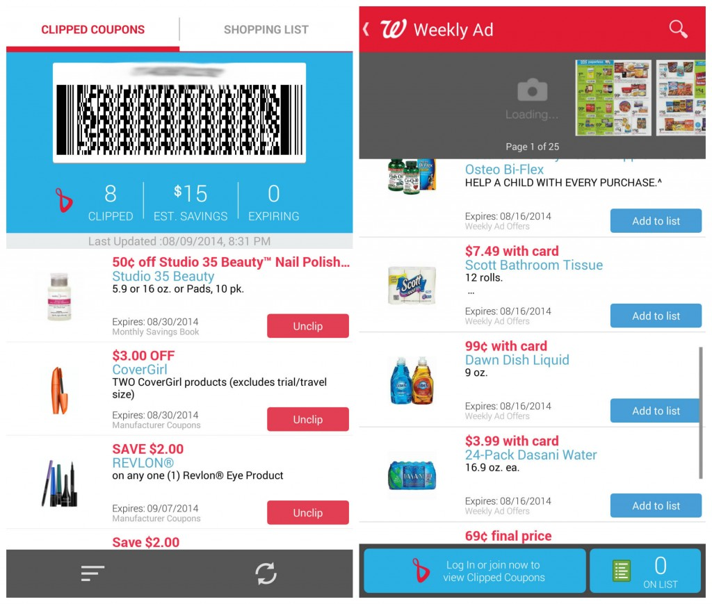 Shopping Smart with the Walgreens Mobile App including makeup & beauty products! #shop #cbias