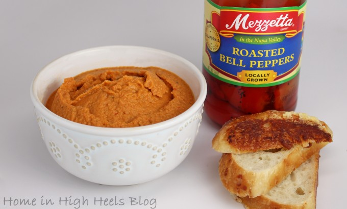 Easy Roasted Red Pepper & Jalapeno Hummus