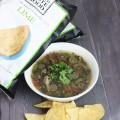 Crockpot Chicken Tortilla Soup + Food Should Taste Good Chips! Slowcooker soups are perfect for lunch or dinner & you can really pack in the veggies & flavor! This version uses chicken, okra, & more but you can really customize this recipe! Check it out on Home in High Heels