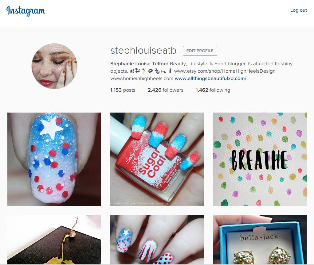 Instagram Account for @stephlouiseatb on Home in High Heels | www.homeinhighheels.com