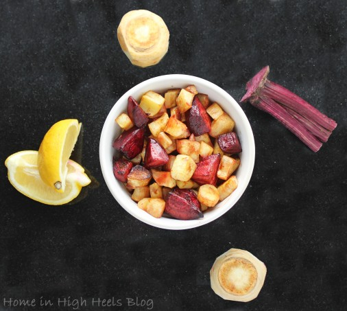 Roasted Turnips & Beets with Lemon make the Roasted Root Veggies Recipe - Perfection for Fall! on Home in High Heels   www.homeinhighheels.com