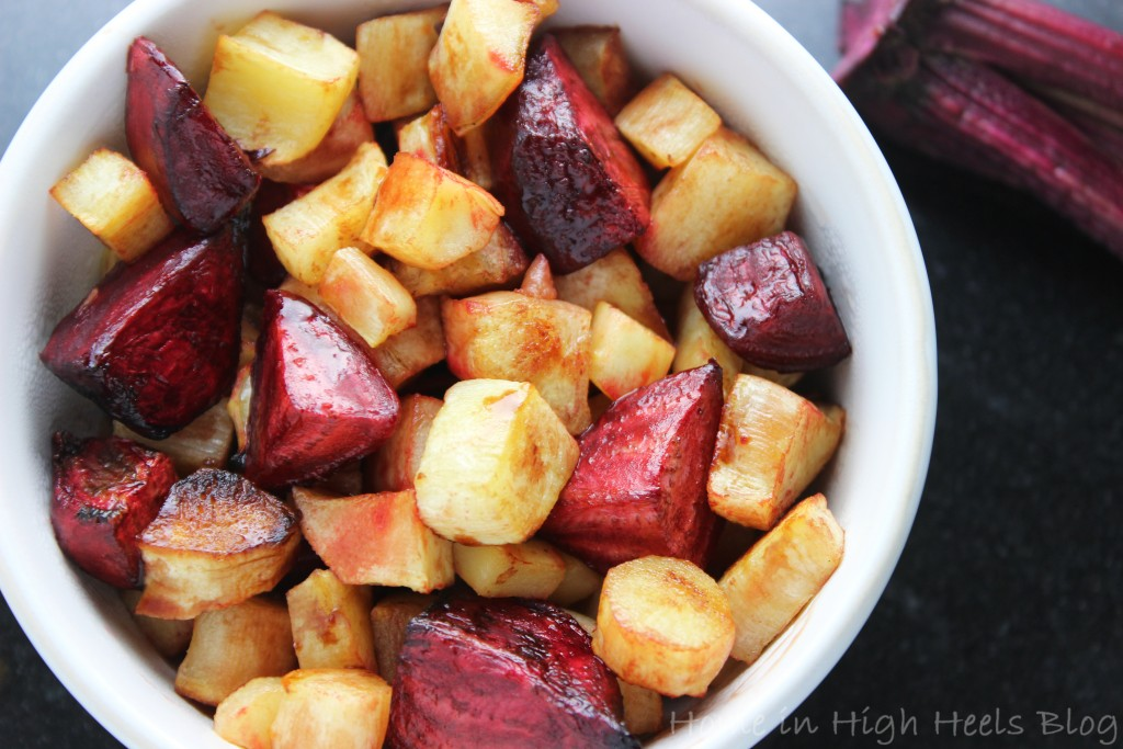 Roasted Turnips & Beets with Lemon make the Roasted Root Veggies Recipe - Perfection for Fall! on Home in High Heels | www.homeinhighheels.com
