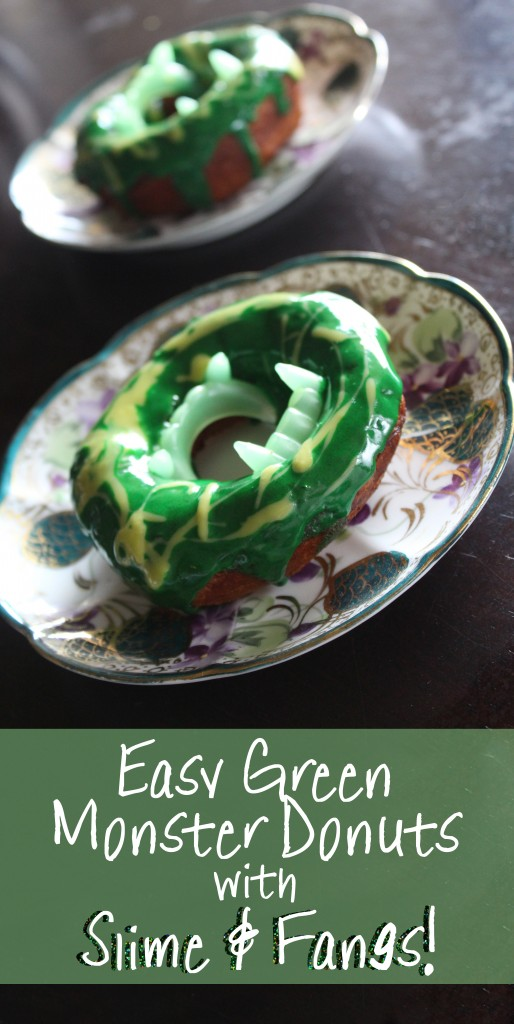 Check out this simple & quick recipe for biscuit donuts you can make at home- & learn how to make your very own Fanged Green Monster Quick Donuts -Spooky & Fun! Check out more lifestyle, food, & fun posts on Home in High Heels