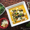 Simple Butternut Squash Soup Recipe + Lots of Topping Ideas like curry, mushrooms, feta, herbs, & more! See lots of recipes, lifestyle posts, & style ideas on Home in High Heels