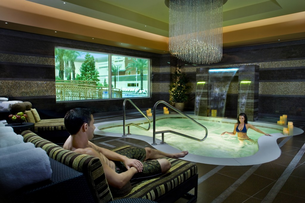 Take a peek inside South Point Hotel's Costa del Sur Spa & Salon in Las Vegas including amenities, TLC, couple's treatments, & more on Home in High Heels