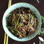 An easy to create recipe for these lovely Asian Garlic Noodles with Greens on Home in High Heels