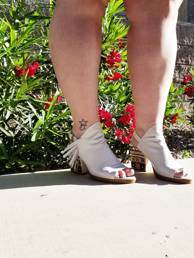 Donald J Pliner OMARA Embroidered High Heels Slingback Wedges in White from Home in High Heels
