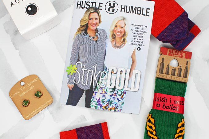 My unboxing of the Hustle Humble #StrikeGold Box with mini reviews on Home in High Heels