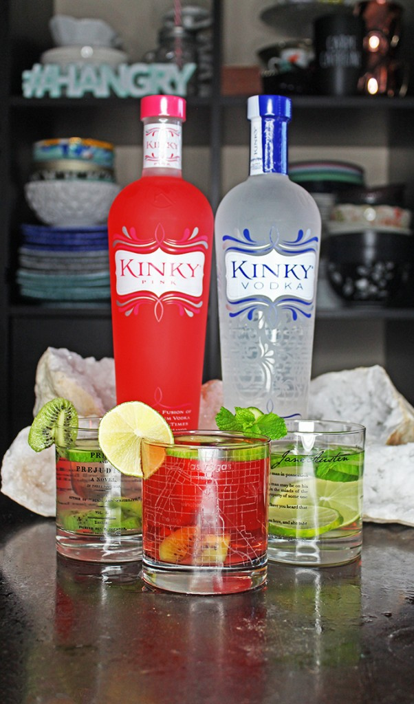 Summertime Vodka Sips with 3 Recipe Variations! Mean Green Jealousy, Think Pink, & Green with Envy summer vodka drink recipes on Home in High Heels