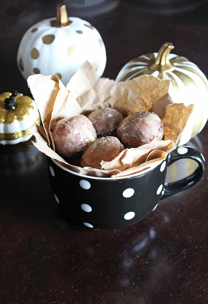 DIY Salted Caramel Glazed Biscuit Donut Holes Recipe- using items from your fridge! on Home in High Heels