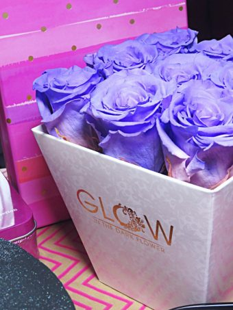Glow in the Dark Flowers Roses are hand Dyed & glow in the dark for a year! Video Included! Mother's Day Gifting Guide from a Vegas gal! See some of my local favorites, small businesses, & a splurge day idea on Home in High Heels