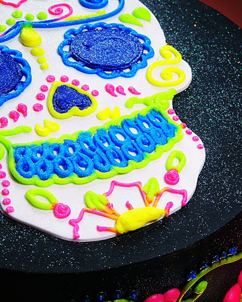 tsp Baking Company in North Las Vegas, Nevada Holographic Neon Sugar Skull Cake Mother's Day Gifting Guide from a Vegas gal! See some of my local favorites, small businesses, & a splurge day idea on Home in High Heels