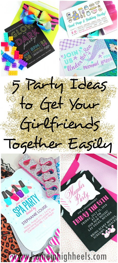 Putting together a party or brunch shouldn't be a hassle- it should be fun! Check out 5 simple ideas- from neons to mermaids to meals on Home in High Heels