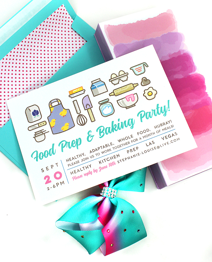 Food Prep & Baking Party Ideas Putting together a party or brunch shouldn't be a hassle- it should be fun! Check out 5 simple ideas- from neons to mermaids to meals on Home in High Heels