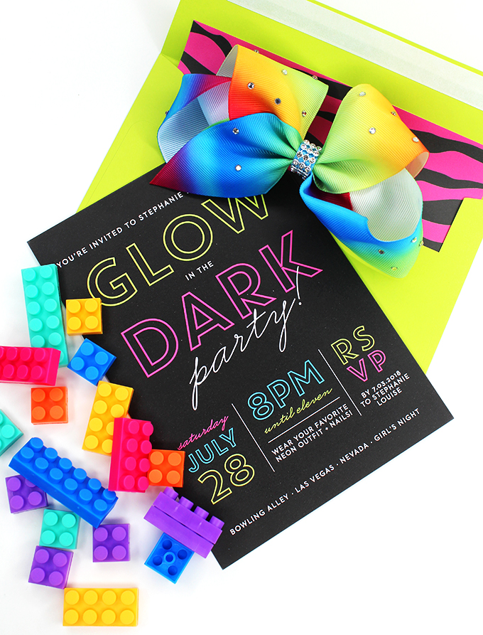 Neon Glow in The dark Blacklight Party Ideas Putting together a party or brunch shouldn't be a hassle- it should be fun! Check out 5 simple ideas- from neons to mermaids to meals on Home in High Heels