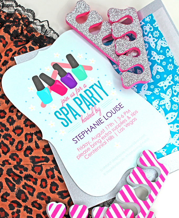 Spa Night Party Ideas Putting together a party or brunch shouldn't be a hassle- it should be fun! Check out 5 simple ideas- from neons to mermaids to meals on Home in High Heels