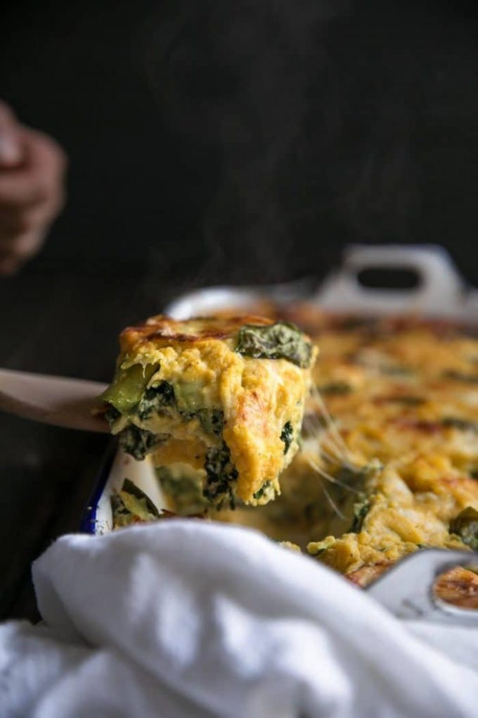 Butternut Squash, Zucchini, & Spinach Lasagna  10 Delicious Butternut Recipes to Ring in Autumn! Options like gluten-free, vegan, & low carb too in order to fully enjoy this fall squash on Home in High Heels