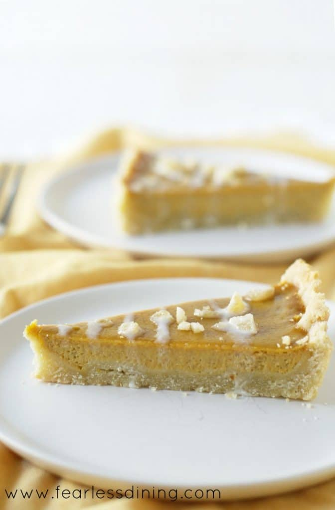 Gluten-Free Maple Ginger Butternut Squash Tart  10 Delicious Butternut Recipes to Ring in Autumn! Options like gluten-free, vegan, & low carb too in order to fully enjoy this fall squash on Home in High Heels