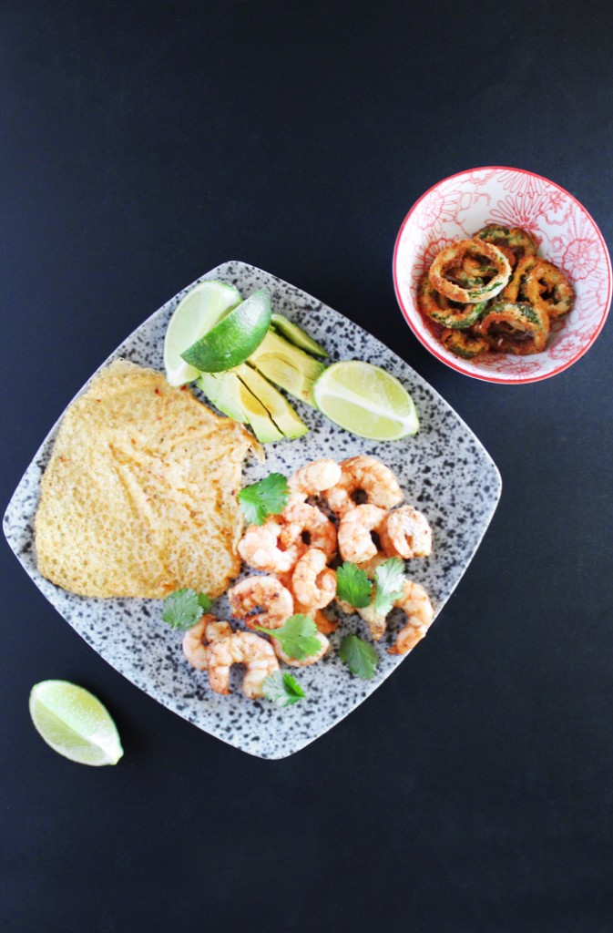 Air Fryer- Keto, Low-Carb, & Gluten Free Deconstructed Jalapeno Shrimp Tacos Recipe on Home in High Heels