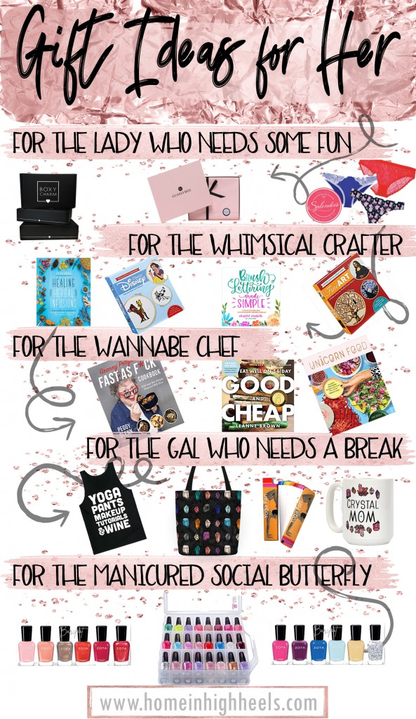 Unique & Thoughtful Gifts for Her She'll Love- Shipped! From crafts to crystals to manicures to yoga on Home in High Heels