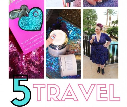 5 Travel Must-Haves for Her to Add to Your List Right Now including dulling pain, non-wrinkling clothing, & even a safety alarm on Home in High Heels